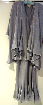 Vivian Chan Shaw Designer Knit Skirt And Top ~ Lilac With A Silver Shimmer