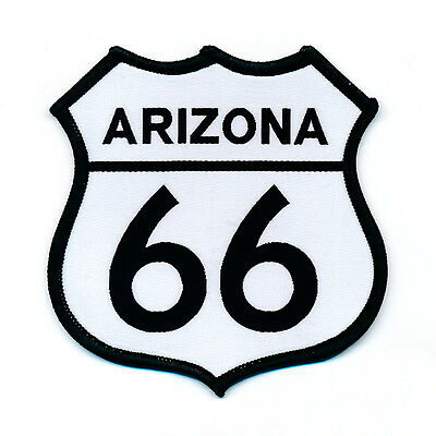 68 x 68 mm Route 66 Arizona USA Mother Road Patch Aufnäher Aufbügler 0753 B