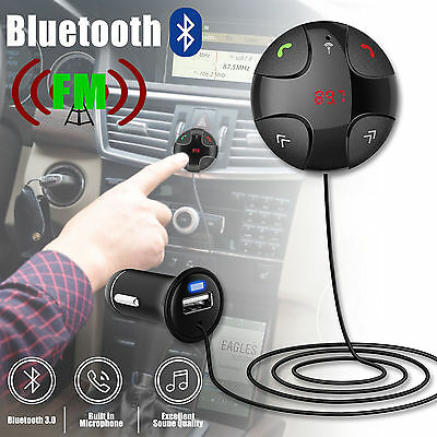 Car Handfree Wireless Bluetooth FM MP3 PlayerTransmitter Kit with USB Charger  L