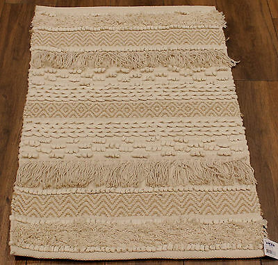 * REDUCED * Boho Cotton / Jute   Rug   * 90  cm  x  60 cm *   BRAND NEW
