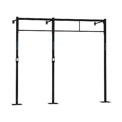Plataforma Rack Pared Torre Halterofilia 3 Estaciones Pull up Squat 270x180 cm