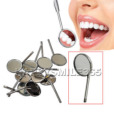 10 Pcs Dental Orthodontic Stainless Steel Mouth Mirror Mirrors Odontoscope 4#