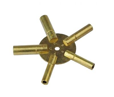 Proops Even 4-12 Brass Clock Spider Keys Winding Keys Key J1139