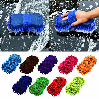 Microfiber Chenille Car Vehicle Care Washing Brush Sponge Pad Cleaning Tool SY