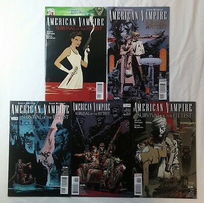 AMERICAN VAMPIRE SURVIVAL OF THE FITTEST comics #1 2 3 4 5 ~ FULL SET 1-5