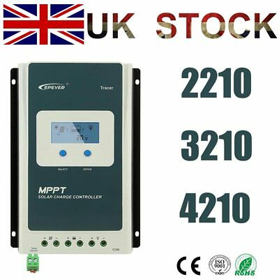 EPEVER 20A 30A 40A MPPT Solar Charge Controller 12/24V Negative Ground MT50/WIFI