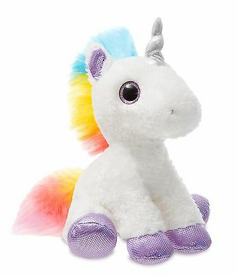 "New Aurora 12"" Sparkle Tales Plush Dazzle Unicorn Cuddly Soft Toy Teddy"
