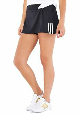 adidas Response Women's Climalite Tennis Skort With Ball Pockets Black & White