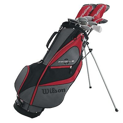 Wilson Profile XD Men's RH Flex Graphite Steel Golf Club Stand Bag Package Set
