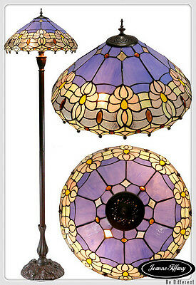 "Large 18"" Waratah  Flower Style Stained Glass Tiffany Floor Lamp"