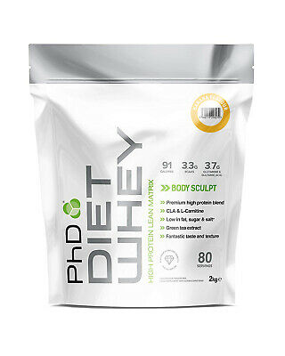 PhD Nutrition Diet Whey 2kg Weight Loss Lean Slimming Shake ALL FLAVOURS