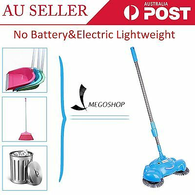 360° Spin Hand Push Broom Sweeper Household Floor Cleaning Mop NO Electricty XH