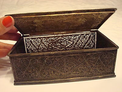 Antique 18TH Century Persian Silver Filigree Box