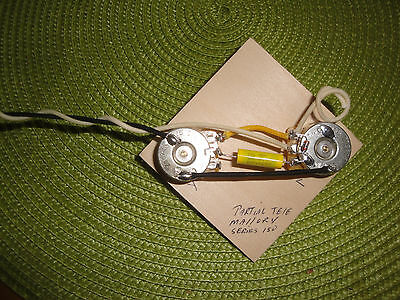 MADE FOR TELE PARTIAL WIRING HARNESS 250k CTS SPLIT SHAFT MALLORY SERIES 150 CAP