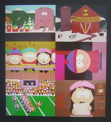 1998 South Park Trading Cards 6-Card Promotional Panel