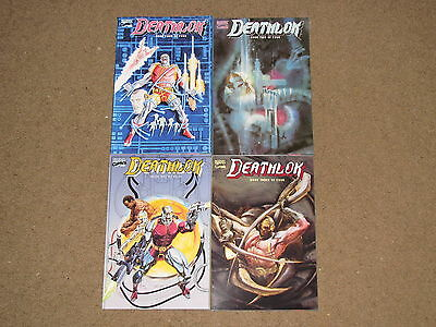 Marvel - DEATHLOK 1 - 4  Complete Mini-Series!!  1990  VF