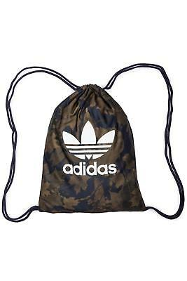 adidas Originals Leaf Print Drawstring Gym Sack School Sport bag Trefoil Logo