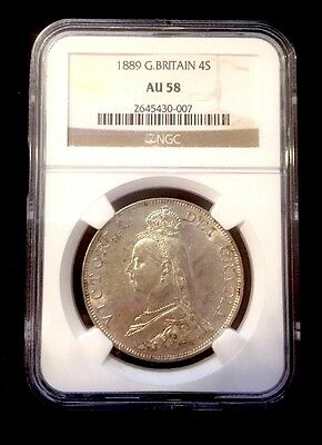 1889 Great Britain 4S Almost Uncirculated 58