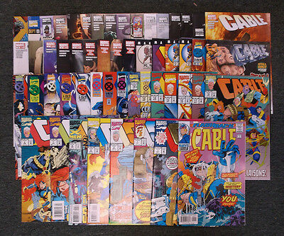 Marvel Cable Comic Book Collection Lot 55 Total Issues Mostly NM+
