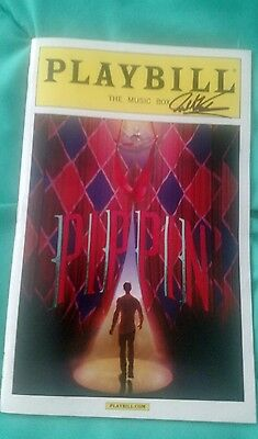 Josh Kaufman Signed Pippen Playbill The Voice Broadway #2 W/Coa+Proof