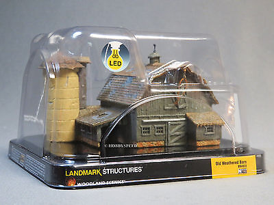 WOODLAND SCENICS N SCALE OLD WEATHERED BARN BUILT & READY train farm 4932 NEW