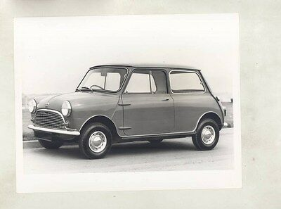1960 ? Austin Mini 850 Saloon ORIGINAL Factory Photograph & Press Sheet wy4100