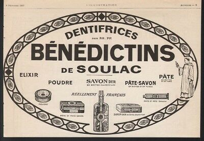 1922 Benedictions Elixer Soap Powder Tooth Paste Dental Hygiene Tin Ad21433