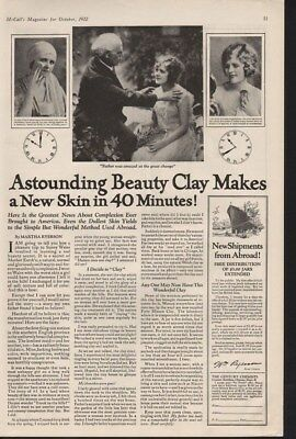 1922 Clay Beauty Skin Care Cosmetic Woman Complexion Ad14420