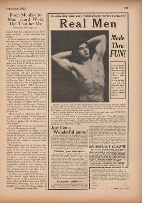 1922 Health Intitute Fitness Exercise Strenght Men Ad14218