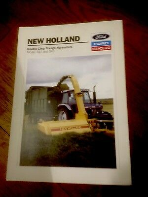 Ford New Holland 341 343 Double Chop forage harvesters brochure 6410 tractor