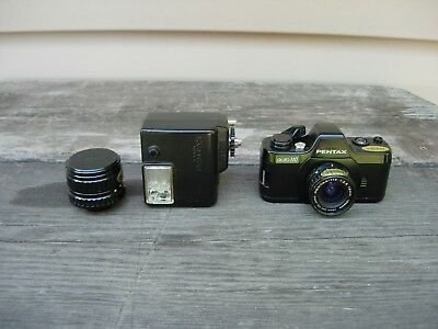 PENTAX AUTO 110 SLR With Flash 18mm & 50mm Lenses