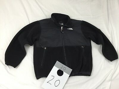 The North Face Boys Youth Large 14/16 Black Denali Fleece Zip-Up Jacket EUC.