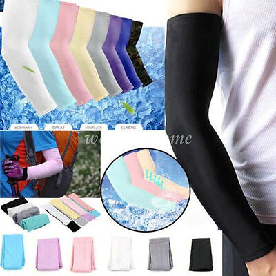 1Pair Arm Sleeves Motorcycle UV Cover Sun Protection Cool Basketball Golf Sports