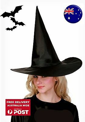 Women Lady Adult Girl Child Halloween Costume Fancy long Black Witches Hat Cap