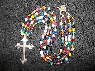 Great Strand Columbia River Trade Bead Necklace Old Glass Beads Beautiful Colors