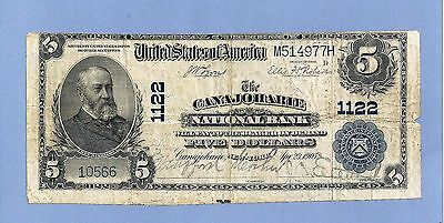1902  Charter 1122 $10 Canajoharie National Bank New York Fine