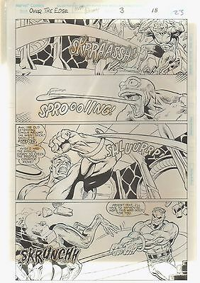 "Hulk - Over The Edge Orig Comic Art #3 Pg 18 Jones/Witherby ""Toad's Night Out"""