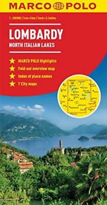 Lombardy Marco Polo Map (North It  Book New