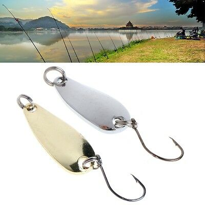 10Pcs Paillette Spoon Sequin Baits Metal Fishing Lure with Single Hook Spinner