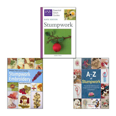 A-Z of Stumpwork,Stumpwork Embroidery,Stumpwork 3 Books Collection Set NEW Pack