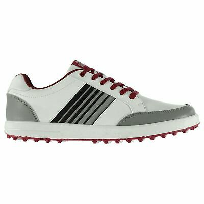 Slazenger Mens Casual Spikeless Golf Lace Up Shoes Colour Contrasting Padded