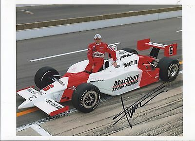 Colour Photograph Gil De Ferran Indianopolis 500 2003 Winner Signed