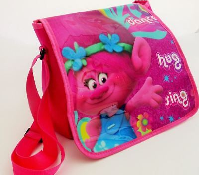 Trolls Poppy Pink Girls Kids Childrens Sholder Messenger School Travel Book Bag