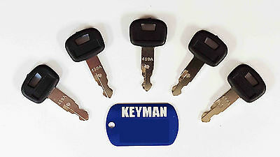 (5) New Style M Series Mini Excavator Ignition Keys for Kubota part# 459A  #16