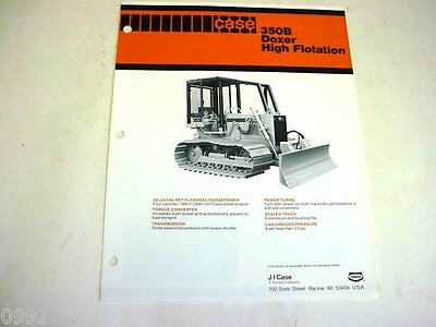 Case 350B Crawler Dozer High Flotation Sales Brochure  !