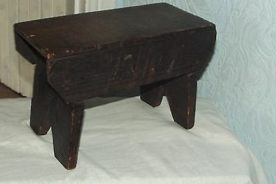 "Antique Victorian  Pine Stool Step Milking Child's Table Coffee 11"" x 7 1/2"" x 6"