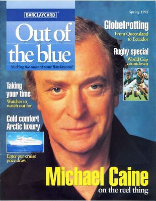 MICHAEL CAINE - Cover & Photo Feature in OUT OF THE BLUE Magazine, Spring 1995