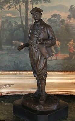 Golf Course Architect Designer Alister MacKenzie WW1 Doctor Bronze Marble Statue