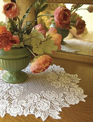 """Tea Rose Doily by Heritage Lace, Choice of Color, 15"""" , Vintage, Romantic Style"""