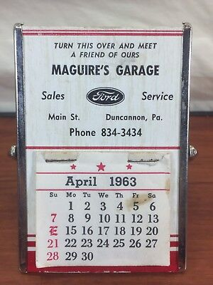 Vintage 1963 Maguire's Garage Ford Sales & Service Duncannon, PA. Advertising